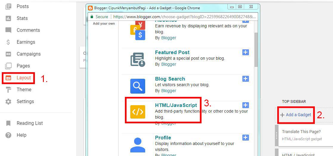 cara membuat salam pembuka pada blog