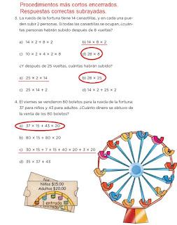 Respuestas Apoyo Primaria Desafíos Matemáticos 4to. Grado Bloque III Lección 60 En la feria