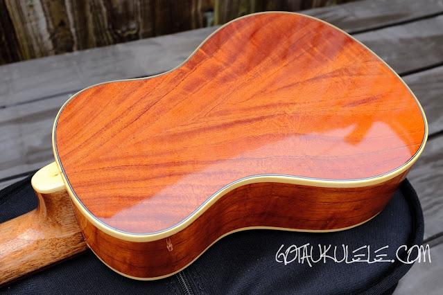 Noah 8 string concert ukulele back