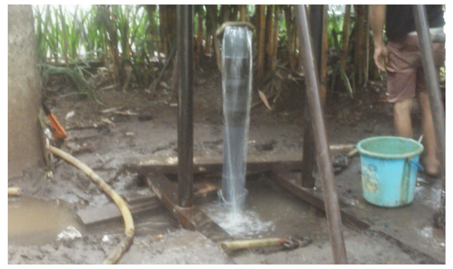 berapa waktu pembuatan sumur bor Kupang