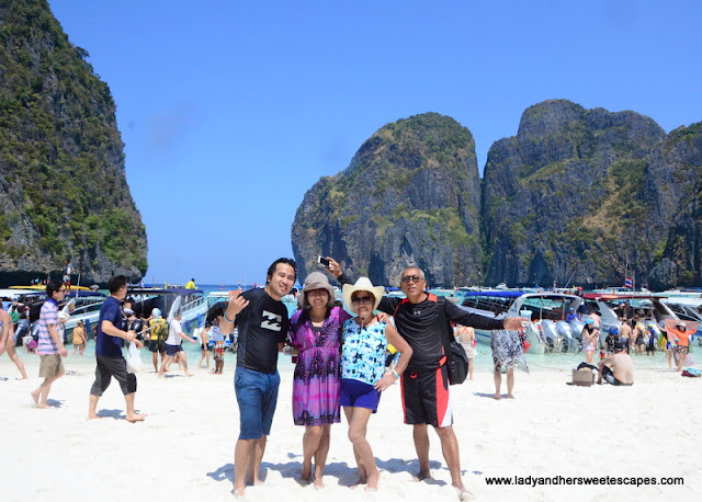 Family at Maya Bay