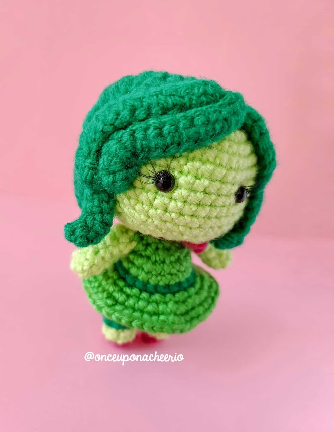 Disgust Amigurumi Doll Crochet Pattern from Pixar's Inside Out