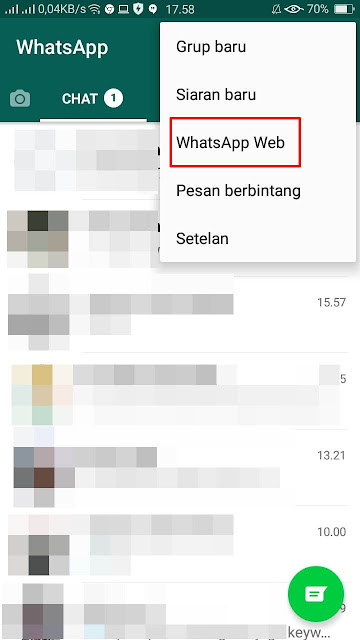 WhatsApp Web bisa di Android