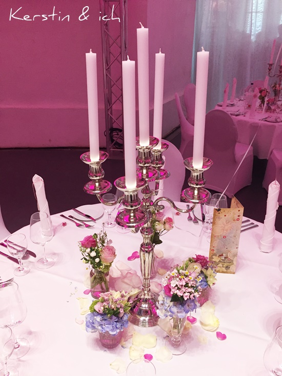 Deko Blumen Kerzenständer