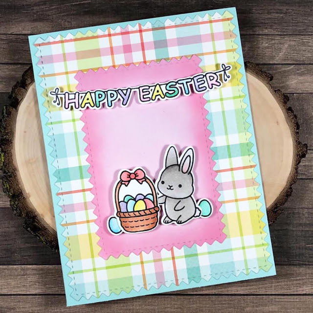 Sunny Studio Stamps: Chubby Bunny Customer Card Share by Caren Bartholomew