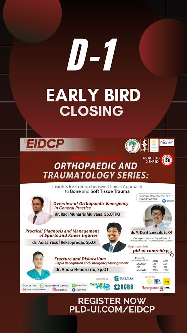 [1 DAY LEFT EIDCP ORTHOPAEDIC AND TRAUMATOLOGY SERIES]