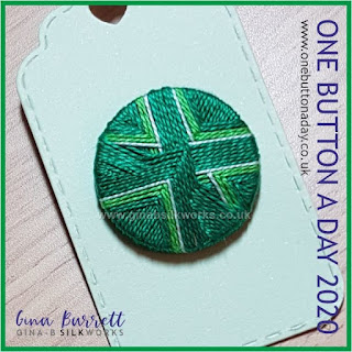 Day 340 : Crosscut - One Button a Day 2020 by Gina Barrett