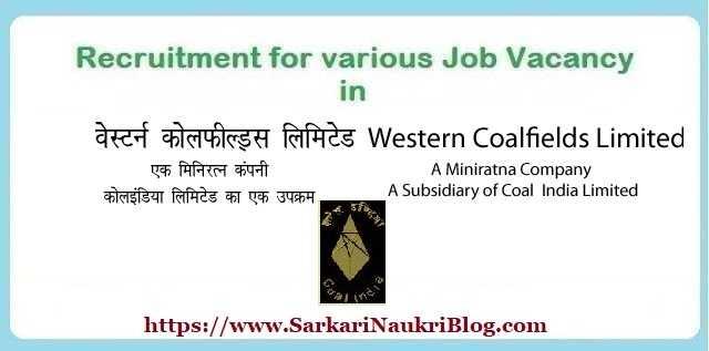 Government Job Vacancy in Western Coalfields