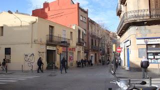 Ubicación de la Puerta de Barcelona (Major/Rª de la Creu)