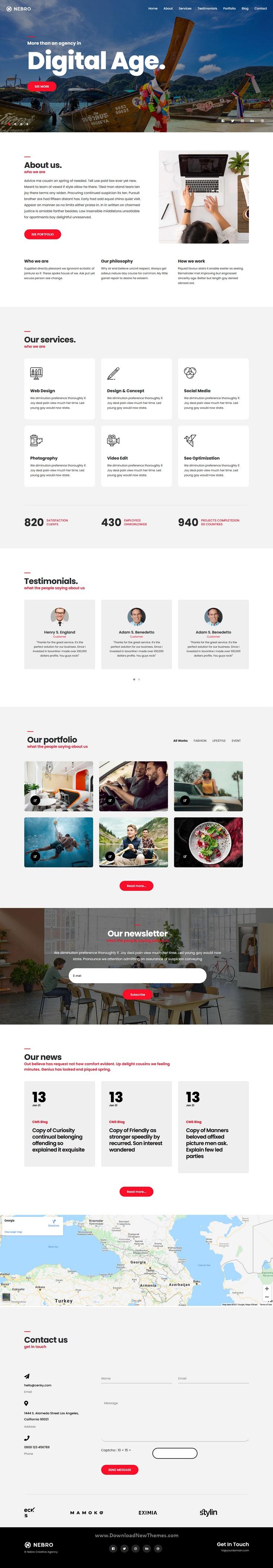 Digital and Marketing OnePage Joomla Template
