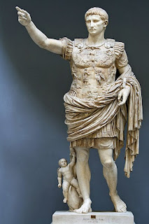 A statue of Augustus by an unknown sculptor, in the Vatican Museum in Rome