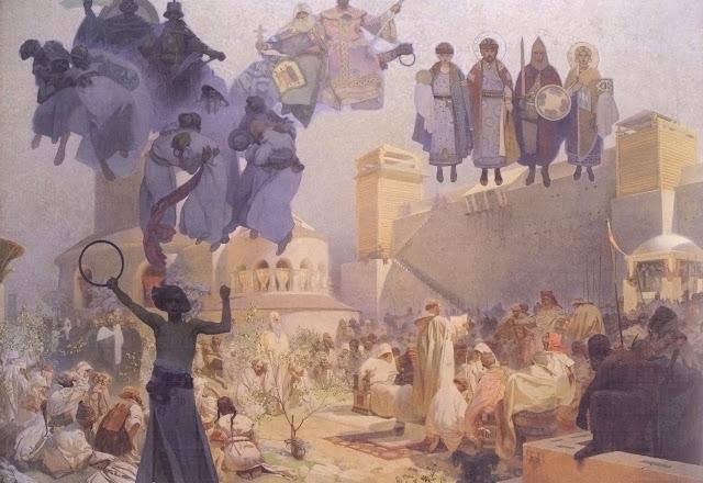 Альфонс Муха - Славянский эпос. Введение славянской литургии. 1912