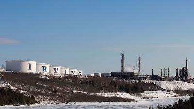 Recipientes de almacenamiento y la refinería Irving Oil en Saint John, New Brunswick (Canadá).Devaan IngrahamReuters