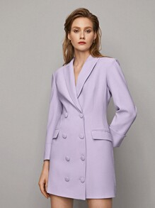 Purple blazer dress