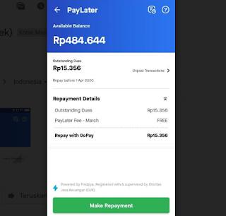 Gopay Paylater hingga 500 Ribu