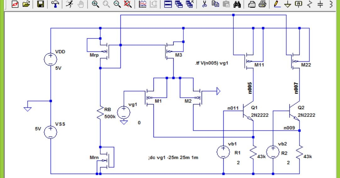MOSFET Circuits Tutorial: Differential Amplifier with PMOS ...
