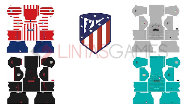 Kits dan Logo Atm. Madrid 2019-2020