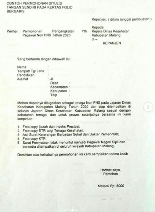 Lowongan Dinas Kesehatan Kabupaten Malang