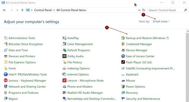 Cara Bikin Cadangan System Image Backup Windows 10
