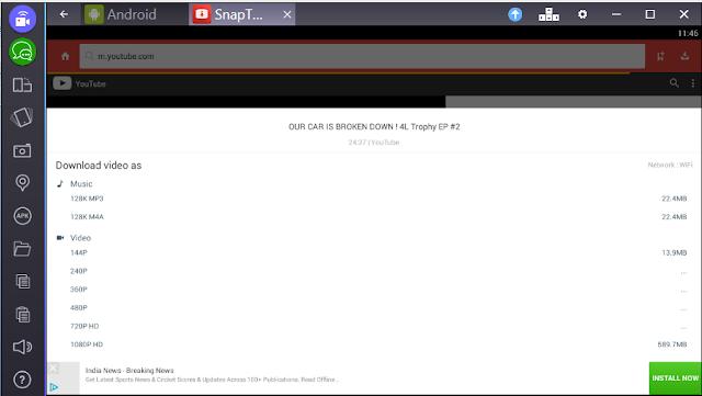 snaptube for pc windows downloader