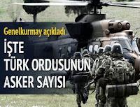 türkiyenin asker sayısı