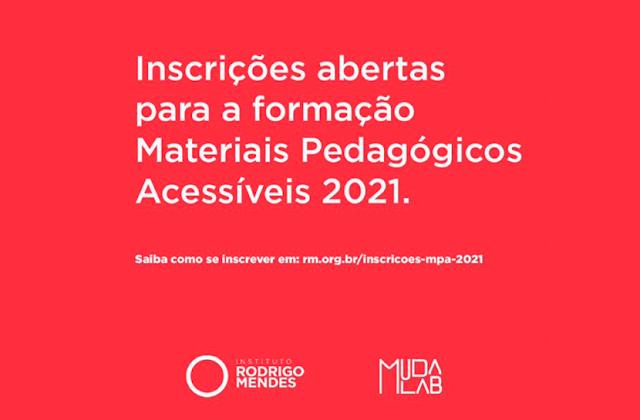 Materiais Pedagógicos Acessíveis abre inscrições para 2021