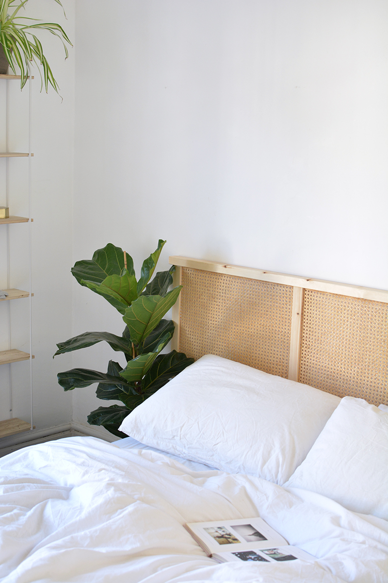 DIY cane headboard IKEA hack