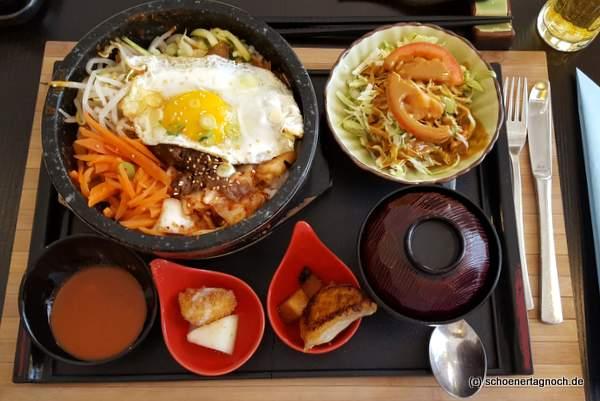Bibimbap Mittagsmenü im japanischen Restaurant Kaiseki in Karlsruhe