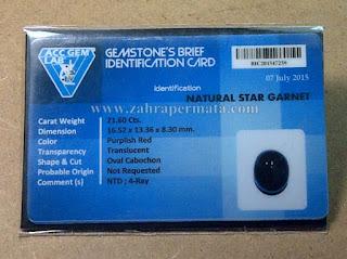 Batu Permata Star Garnet