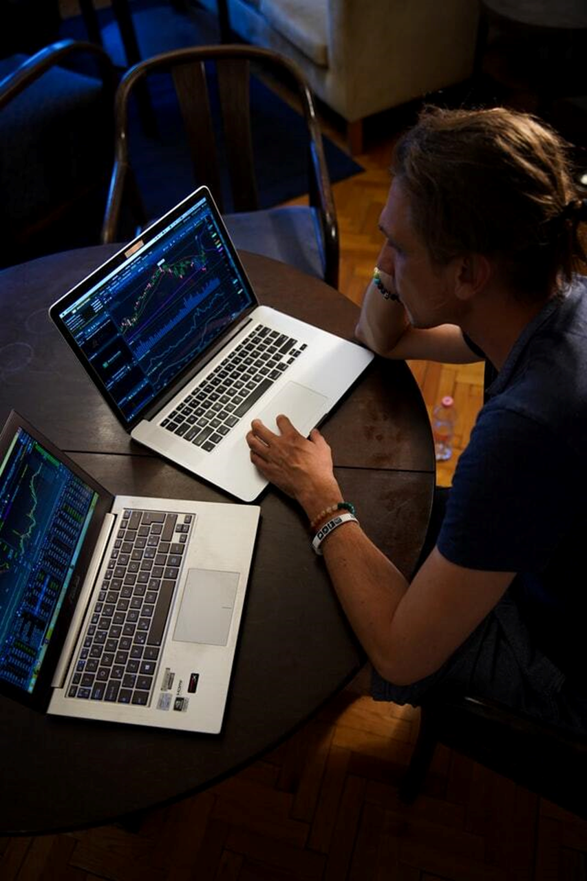 Forex Trader with laptop