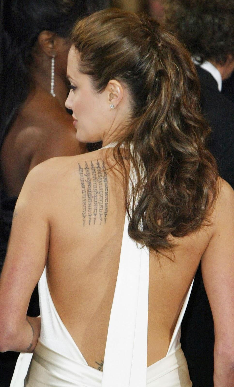 TATTOOS GALLERY WORLD: Angelina Jolie Back Tattoos