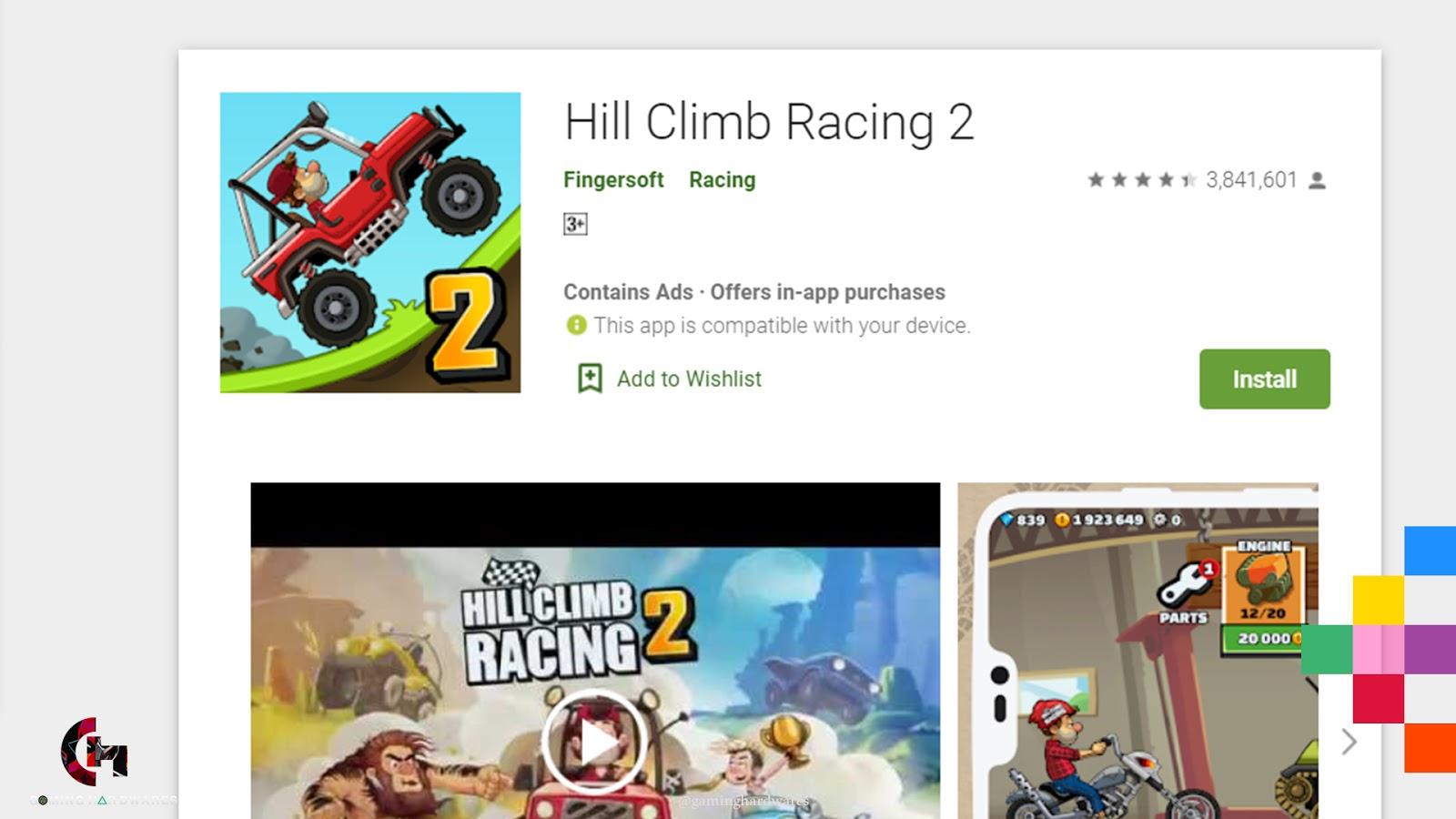 لعبة Hill Climb Racing 2 للأندرويد