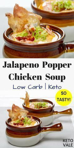 Keto Jalapeno Popper Chicken Soup