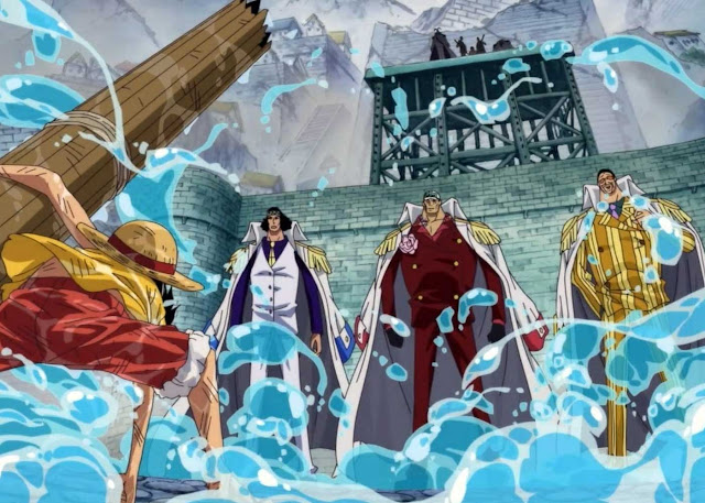 Examine the strengths of the Admirals in One Piece