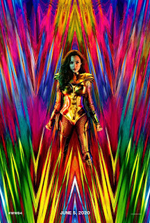 """The new film, which will pass in 1984, was shared by director Patty Jenkins, the first poster of the 80's colorful and sparkling lam glam """"theme."""