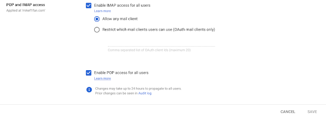 Enhanced admin controls for Gmail IMAP 1