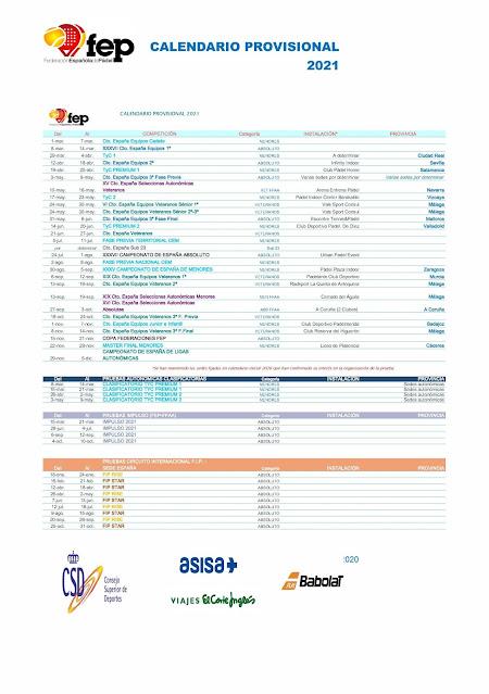 🏆 La FEP lanza su Calendario Provisional de Competición para 2021: http://www.planetapadel.com/2020/12/la-fep-lanza-su-calendario-provisional.html