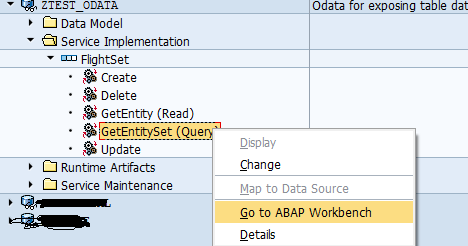 how to implement $filter query option in SAP OData service