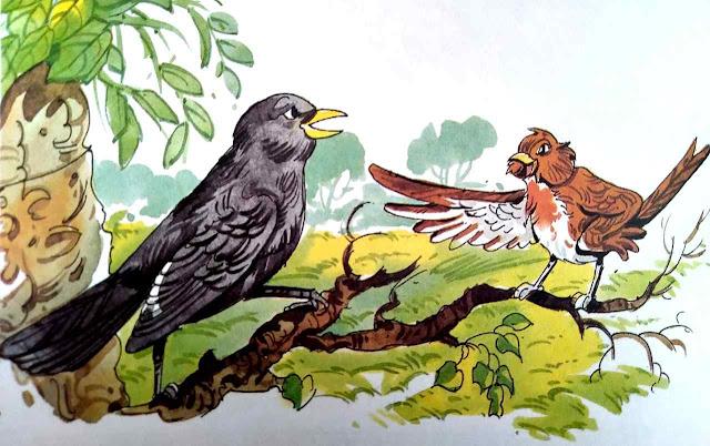 कोयल और चिड़िया (Short Story In Hindi For Class 4th)