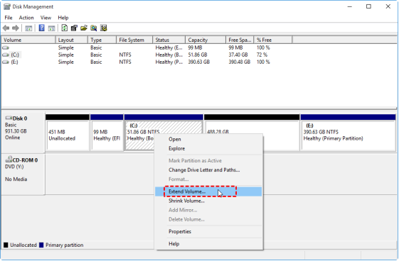 How to Extend Partition in Windows 11 without Losing Data (Two Ways)?