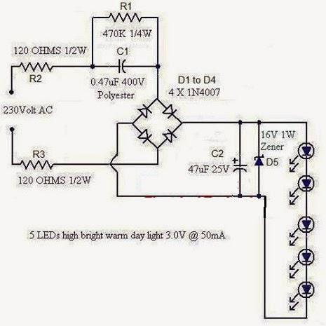 Electrical Engineering World: 1 Watt LED Night Light