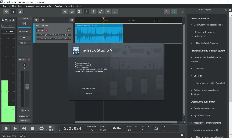 تحميل برنامج n-Track Studio Suite 9.1.2 لتسجيل وتحرير ومزج وإضافة التأثيرات ومعالجة الصوت