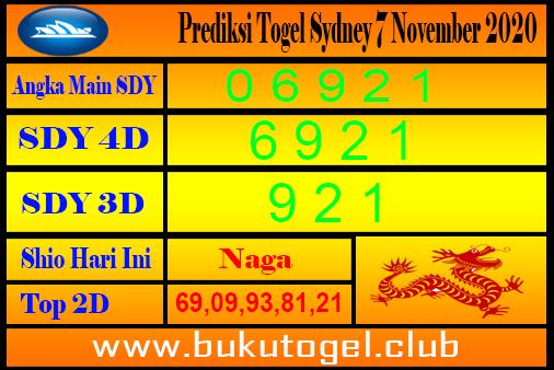 Syair Sydney 7 November 2020