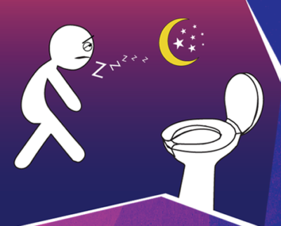 Close your one eye when you go to the toilet at night
