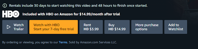 Select purchase option on Amazon Prime Video