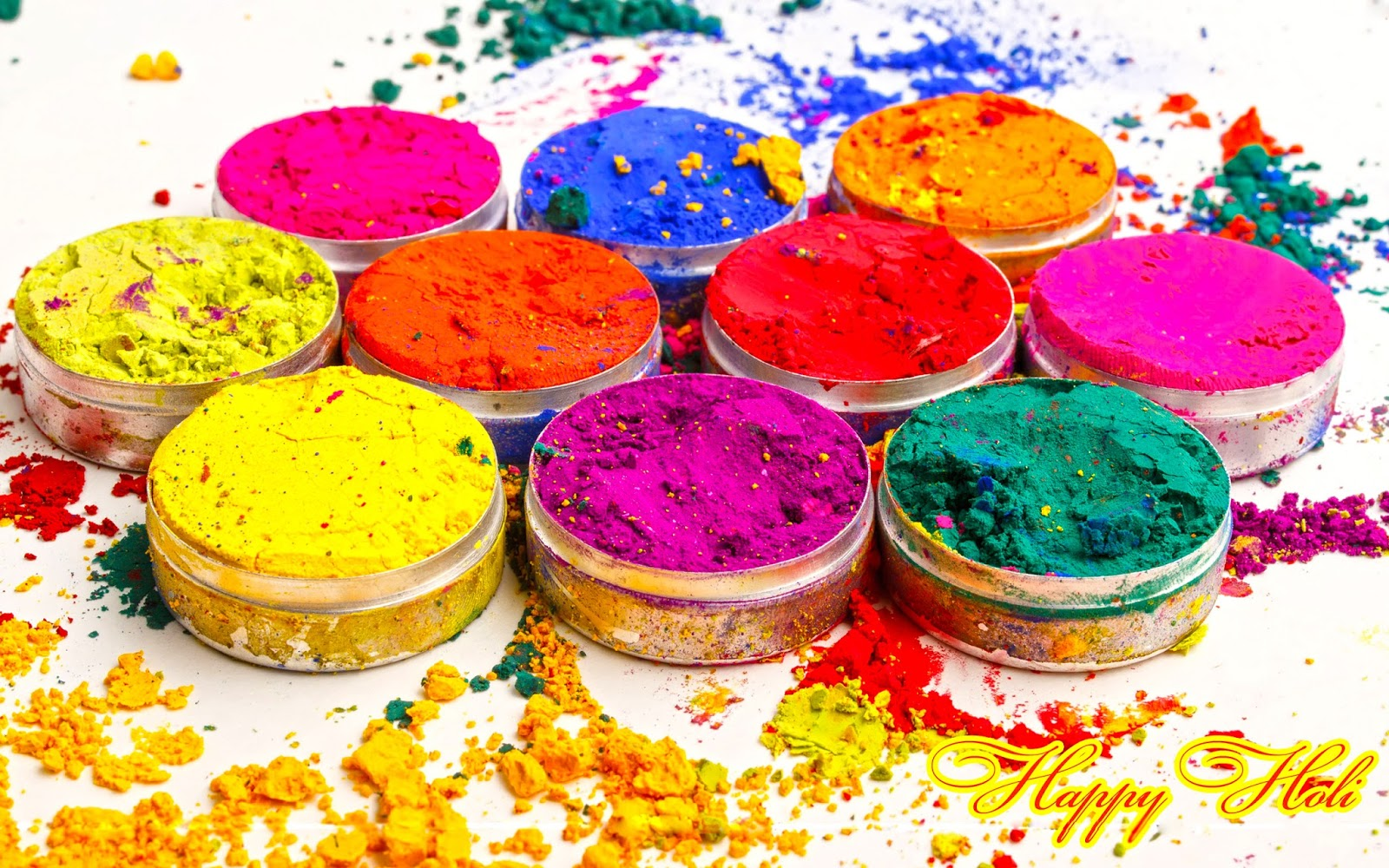 Happy Holi HD Wallpaper & SMS Messsages - Images of love