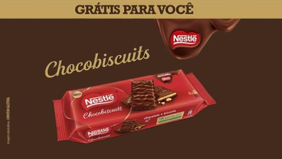 Receba em casa Chocobiscuits Nestlé de graça