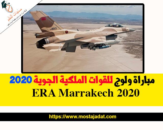 مباراةالقوات الملكية الجوية ERA Marrakech  برسم سنة 2020