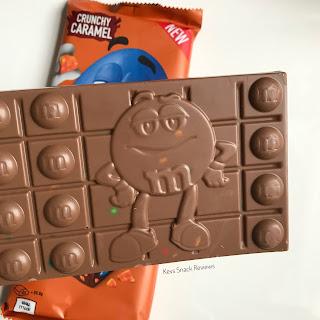 M&ms crunchy caramel bar
