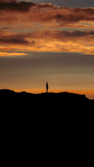 HD wallpaper lonely man, silhouette, loneliness, night